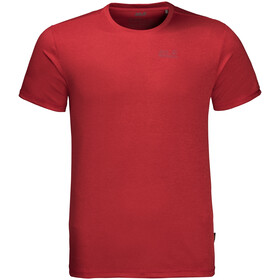 Jack Wolfskin Sky Range T-Shirt Heren, red lacquer